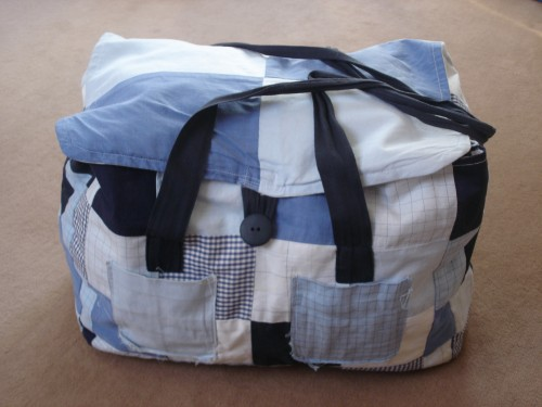 sac, patchwork, machine, poche, bouton, sangle